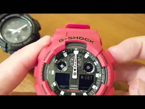 9efeb401f437e Casio G-Shock GA-100B-4AER - ustawienia zegarka [PL] - YouTube