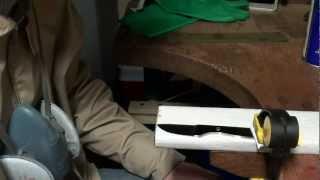 Making-of knife #4 - 2/5: Hand sanding and polishing