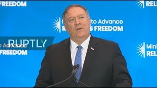 RUPTLY LIVE: Pompeo addresses the Ministerial to Advance Religious Freedom in Washington DC