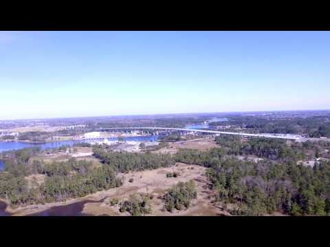 Veterans Bridge Chesapeake Virginia Drone Flight with dji range extender
