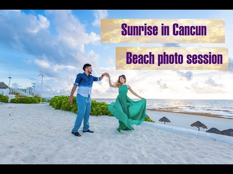 Cancun Photographer And Sunrise Photo Session At The Beach In Cancun.