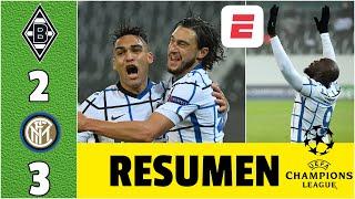 Borussia Monchengladbach 2-3 Inter. DOBLETE de Lukaku. Los de Conte, siguen vivos | Champions League