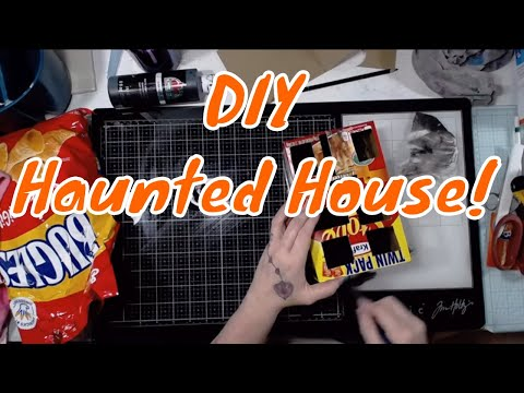 DIY Haunted House From Food Boxes (And Making ATCs Later)