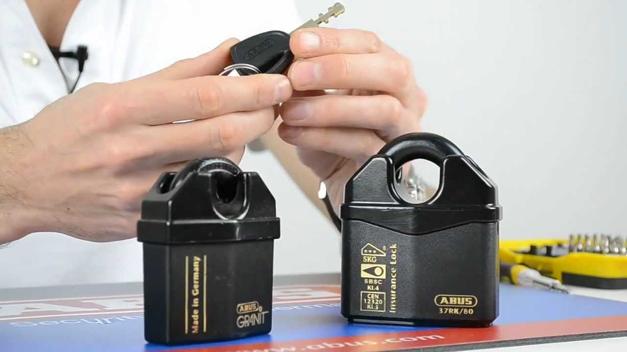 review of the abus closed shackle granit plus padlocks youtube. Black Bedroom Furniture Sets. Home Design Ideas