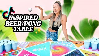DIY TikTok Inspired BEER PONG TABLE!