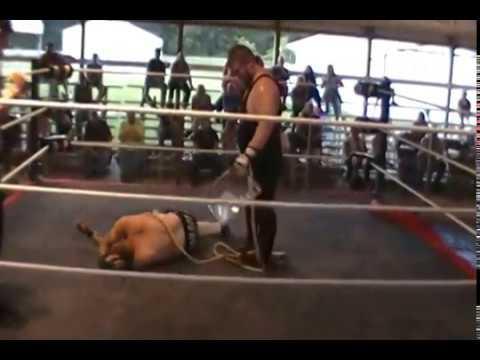 Big T vs Jason Levi Bull Rope Match