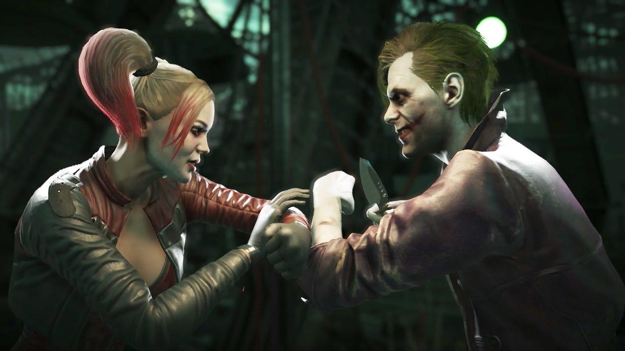 INJUSTICE 2 Harley Quinn Vs The Joker Clash Dialogue