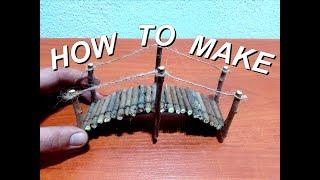 How to make mini wood bridge for fairy gardens