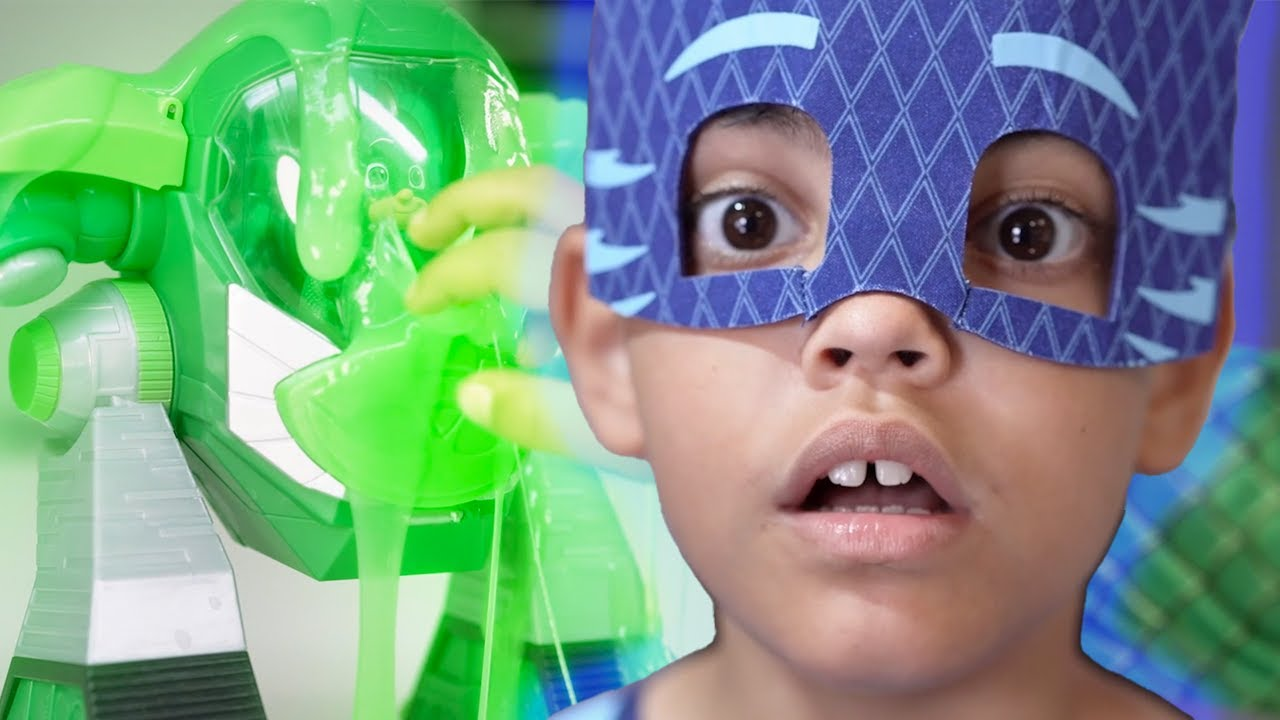 PJ Masks in Real Life | Catboy ToThe Rescue! | Trapped in Slime | PJ Masks Official