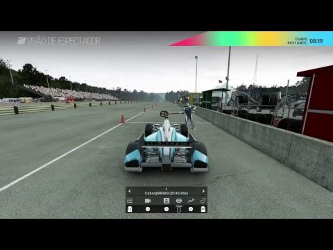 SuperLIGA F1 Brasil - Project Cars PS4 Campeonato Formula Indy - 1ª Etapa Circuito Road América