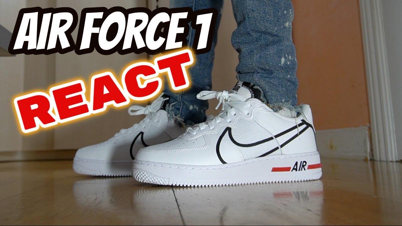 air force 1 react blancas