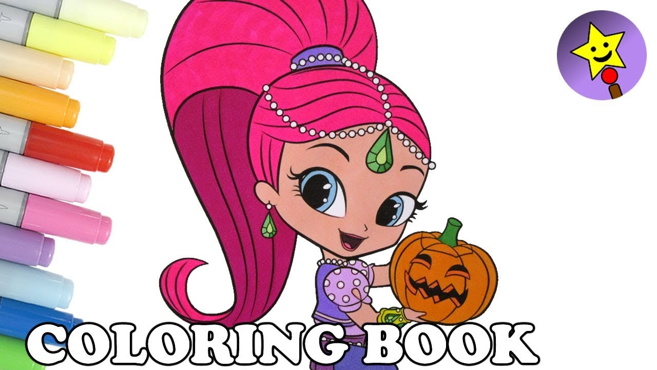 Shimmer And Shine Coloring Book Page Halloween Colouring Kids Art