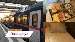 ÖBB Nightjet - THE AUSTRIAN TRAIN FROM GERMANY TO ITALY | Deluxe Cabin