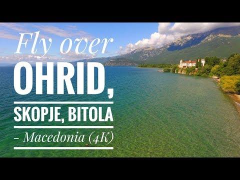 Ohrid lake, Skopje, Bitola - MACEDONIA (4K)
