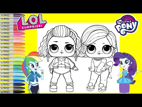 LOL Surprise Dolls Repainted As My Little Pony Rainbow Dash And Rarity LOL Surprise Makeover