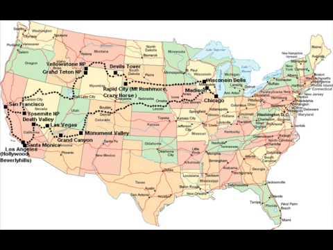 USA Trip 2006 Map - Plan Wycieczki