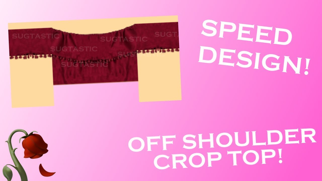 Roblox Speed Design Off Shoulder Crop Top - red hair extensions roblox