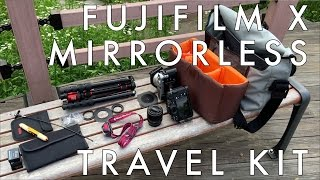 what s in my bag and why fujifilm mirrorless landscape and travel photography kit