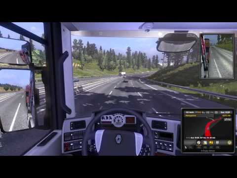 Euro Truck Simulator 2. Zurich, Switzerland to Praha, Czech Republic