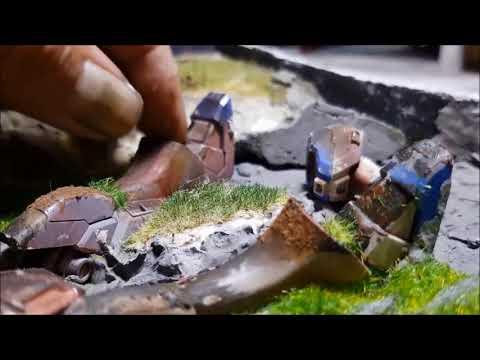 The making of Gundam diorama