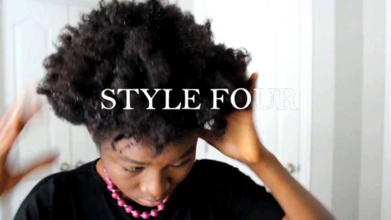Style For Hair: 4 EASY HAIR STYLES FOR SHORT NATURAL HAIR 4B/4C HAIR- BAD