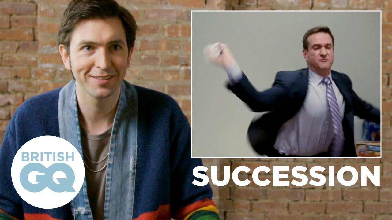 Nicholas Braun reacts to the Succession water bottle scene | British GQ Action Replay