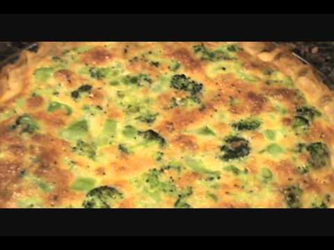 BROCCOLI AND CHEDDAR CHEESE QUICHE / QUICHE RECIPE