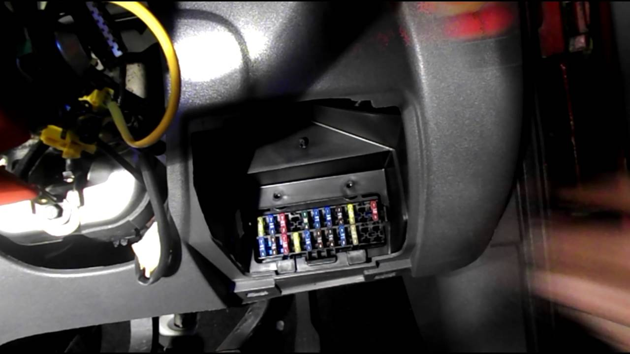 Where are the fuses located on a ford fiesta youtube