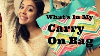 What's In My Carry On Bag ✈