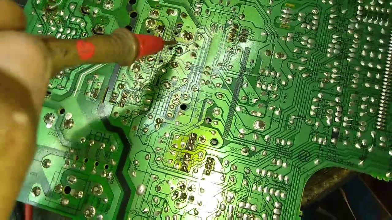 Local China CRT TV, horizontal starting problem,