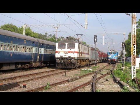[IRFCA] Udyan Abha Toofan Overtake ALD-CNB MEMU & Great Xing With Prayagraj Express!!
