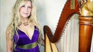 Harpist Carol Tatum, Crystal Tears, solo harp clip .41 seconds (2015)