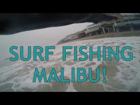 Surf fishing Malibu