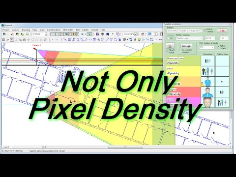 Not only Pixel Density.  CCTV design with VideoCAD. Factors of camera effectiveness in CCTV systems
