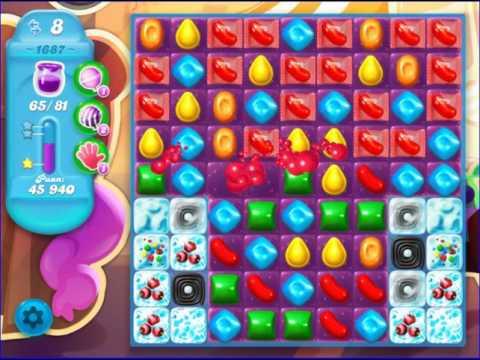 how to win level 1687 candy crush saga