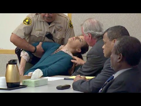 Defendant collapses in