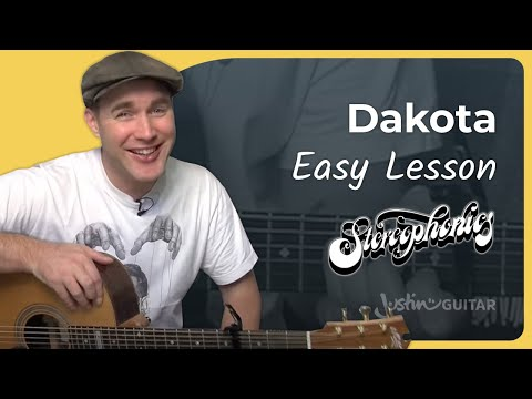 How to play Dakota by Stereophonics (Easy song acoustic guitar lesson BS-603)