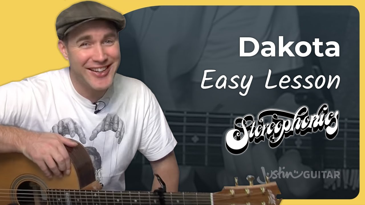 How To Play Dakota By Stereophonics Easy Song Acoustic Guitar