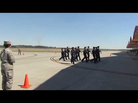 Beaufort High School AFJROTC Drill Team- SC934- Armed Platoon Exhibition