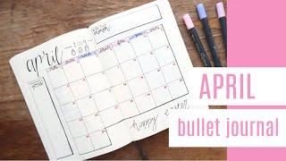 APRIL BULLET JOURNAL SET UP