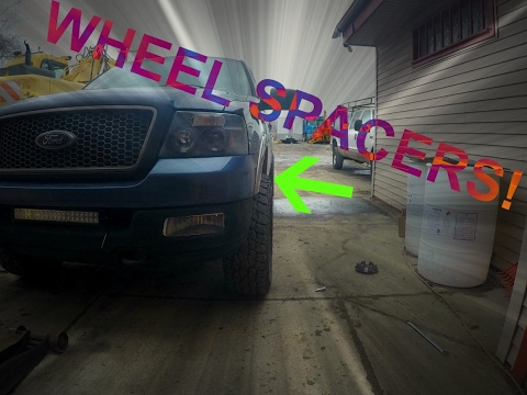 F150 Wheel Spacer Install Youtube