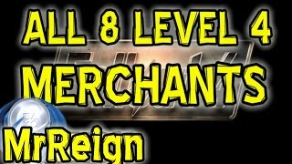 FALLOUT 4 - ALL 8 LEVEL 4 MERCHANTS & Rare NPC's - All Information One Video