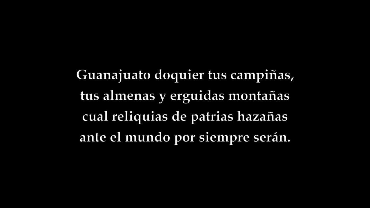 Free Thought Quotes From Movies: Himno De Guanajuato