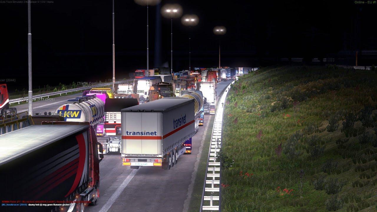 europort traffic jam in euro truck simulator 2 multiplayer. Black Bedroom Furniture Sets. Home Design Ideas