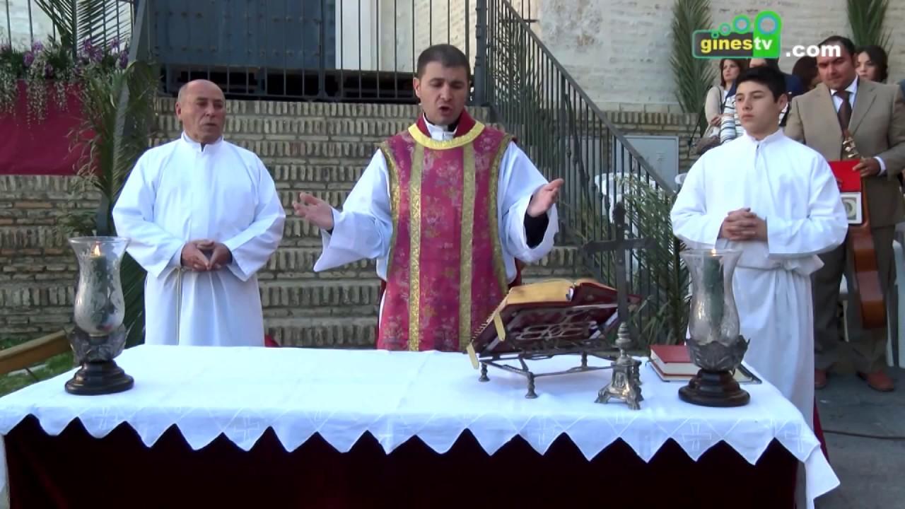 La procesión de palmas del Domingo de Ramos abre la Semana Santa en Gines