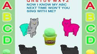 Cat-cute cats-dog-cute dogs-learn abc-abc song-abc-phonics-play doh-abc phonics-toys-alphabet song