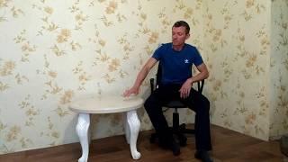 видео Обеденные столы из искусственного камня