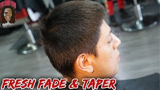 Straight Hair Fresh Fade And Taper Youtube