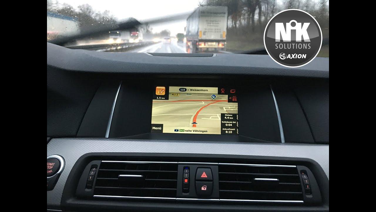 Axion nik kit navigations nachr stung in einem bmw 5er f11 mit radio professional