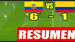 ECUADOR VS COLOMBIA (6-1) EN VIVO| ELIMINATORIAS 2020| ECUADOR VS COLOMBIA